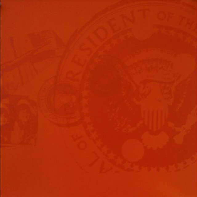 Andy Warhol, 'Flash, II.33 Orange Presidential Seal', 1968, Print, Color screenprint, Elizabeth Clement Fine Art