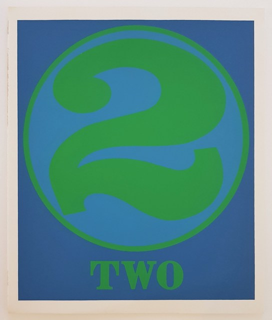 "Robert Indiana, 'Numbers Suite: ""Two""', 1968, Print, Original Screen Print on paper, Cerbera Gallery"
