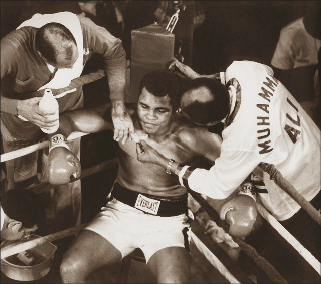 , 'Muhammad Ali in the Corner,' ca. 1977, Richard Beavers Gallery