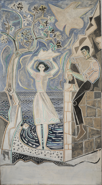, 'Couple by the Sea (Panorama Revisited),' ca. 1950, Osborne Samuel