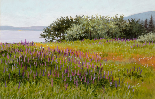 June Grey, 'A Field of Lupines along the Coast', 2005, Vose Galleries