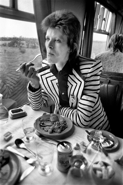 , 'Bowie Eating on Train,' 1973, TASCHEN