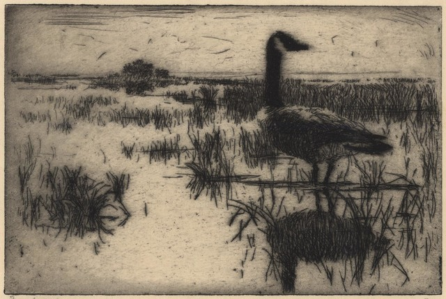 Frank Weston Benson, 'Lone Goose.', 1915, The Old Print Shop, Inc.