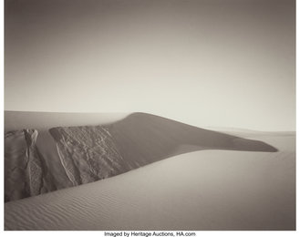 Dunes at Eel Creek, Oregon and Long Shadow, Oregon (two photographs)