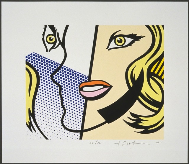 Roy Lichtenstein, 'Untitled Head', 1995, Print, Screenprint in colors, on Lanaquarelle watercolor paper, with full margins, Upsilon Gallery