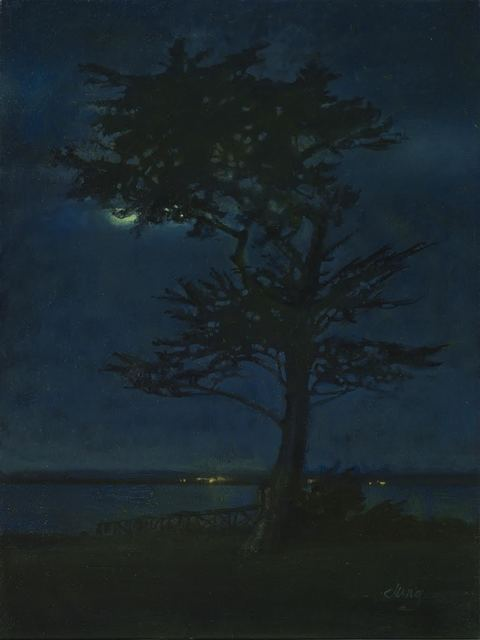 , 'Moon at Mitchell's Cove,' 2018, The Guild of Boston Artists