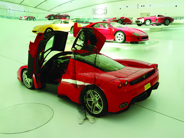", 'Hiding in the City: Innovation Ferrari ""Enzo"",' 2014, Marion Gallery"