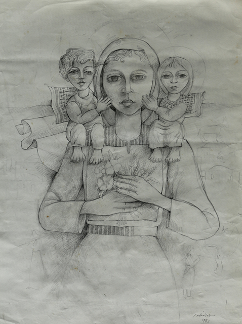 , 'Mother and Two Child ,' 1983, Gallery One