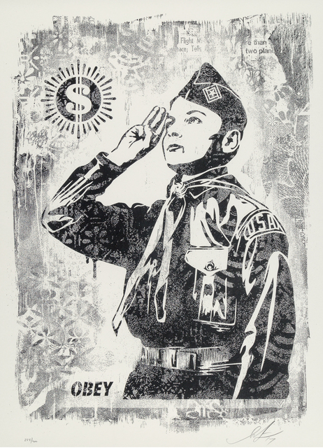 Shepard Fairey (OBEY), 'Damaged Stencil Series: Learn To Obey', 2017, Taglialatella Galleries