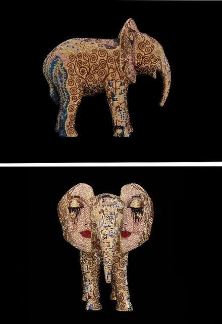 ", 'ELEPHANT Medium ""I LOVE YOU VERY MUCH"" feat. Klimt,' 2019, Galerie de Bellefeuille"
