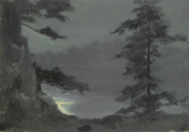 , 'Moonlight on the Lake Through Pines,' 10, Sullivan Goss