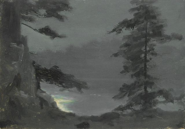 , 'Moonlight on the Lake Through Pines,' 10, Sullivan Goss