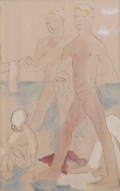 , 'Two Boys at Beach,' ca. 1926, Osborne Samuel
