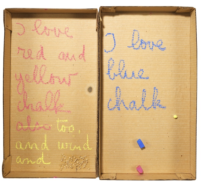 , 'Autobiographical Element: I Love Chalk,' 1973, Richard Saltoun