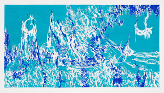 , 'Composition in cobalt blue, turquoise and white,' 2016, Eclectica Galleries