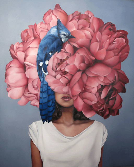 , 'Blue Jay Girl,' 2018, Hicks Gallery