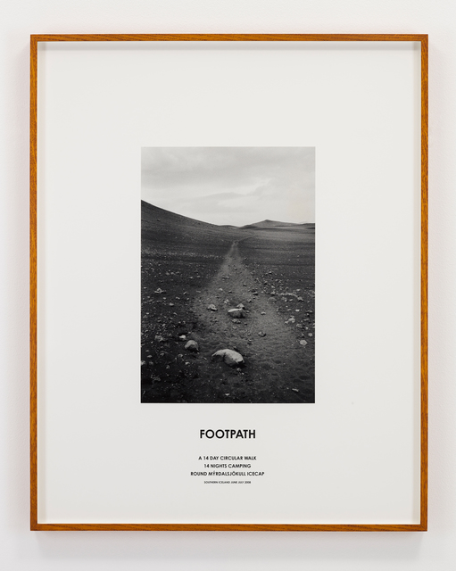 Hamish Fulton, 'Footpath, Iceland, 2008', 2008, Photography, Photograph and text, Parafin