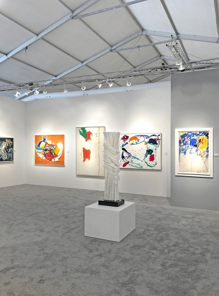 Art Miami 2018, Booth 319 - Left to Right: Michael West, Hans Hofmann, Theodoros Stamos, Pablo Atchugarry, Sam Francis (1987), and Sam Francis (1956)