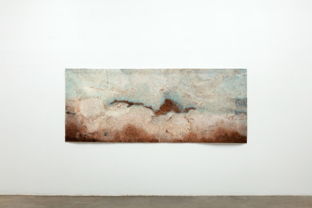 , 'Finding the Universe in Oaxaca, brown ground blue sky,' 2017, Erin Cluley Gallery