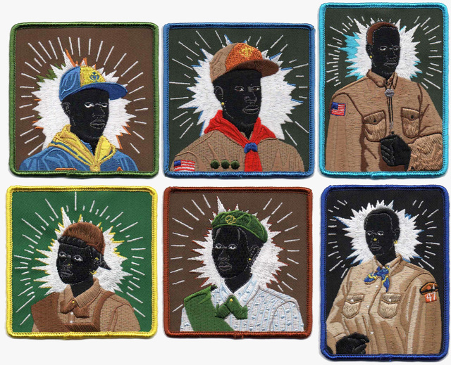 Kerry James Marshall, 'Scout Series: Six embroidered patches', 2017, MOCA