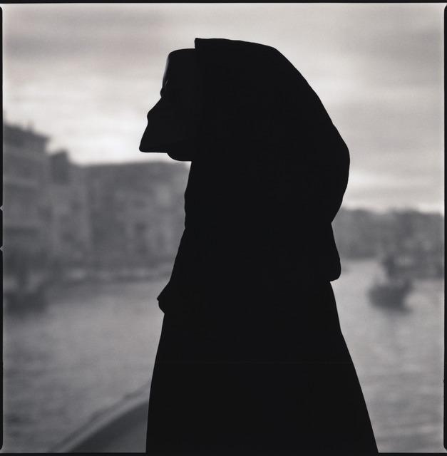 Hiroshi Watanabe, 'Viviana Ceppa with Bauta Mask (Silhouette) ', 2014, photo-eye Gallery