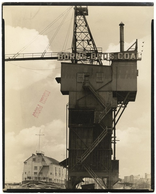 , 'Burns Brothers Coal Elevator and U.S.S. Illinois : Armory for Naval Reserves.  (West 135th Street Pier.),' 1937, The Old Print Shop, Inc.