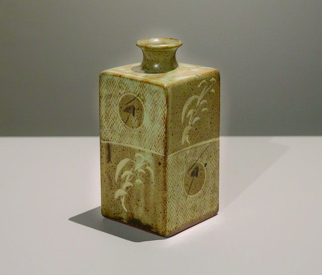 Tatsuzo Shimaoka, 'Mold-Pressed Bottle', ca. 1990, Japan Society Benefit Auction