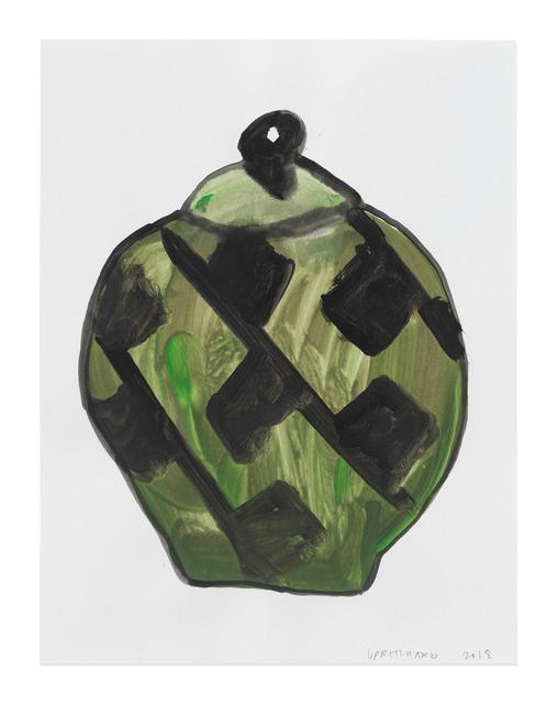 , 'Green Lidded Urn with Black Motive,' 2018, Anton Kern Gallery