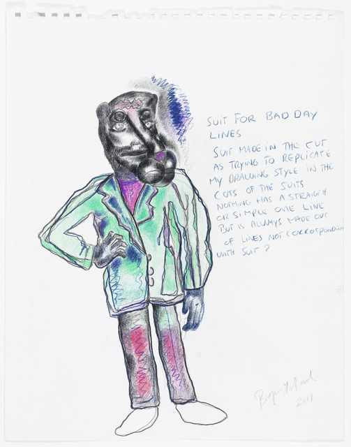 , 'Untitled (Fashion Drawing),' 2014, Galerie Guido W. Baudach