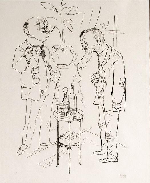 """, '""""Es ist doch Eine jammerliche Rolle, der Hase sein zu mussen auf dieser Welt - Aber der gnadige Herr braucht Hassen."""",' 1922, San Jose Museum of Art"""