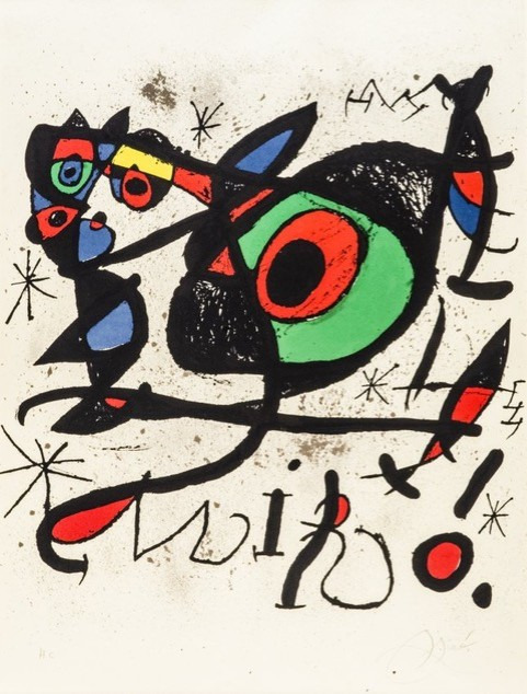 "Joan Miró, 'Afiche pour l'exposition ""Sobreteixims i escultures""', 1972, Hidden"