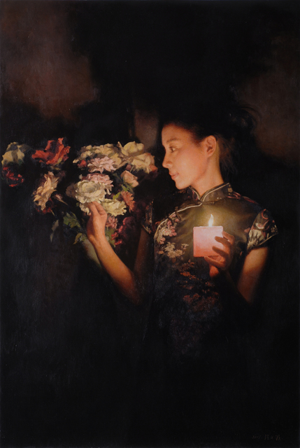 Zhang Yibo, 'Woman by Candlelight', 2015, Odon Wagner Gallery