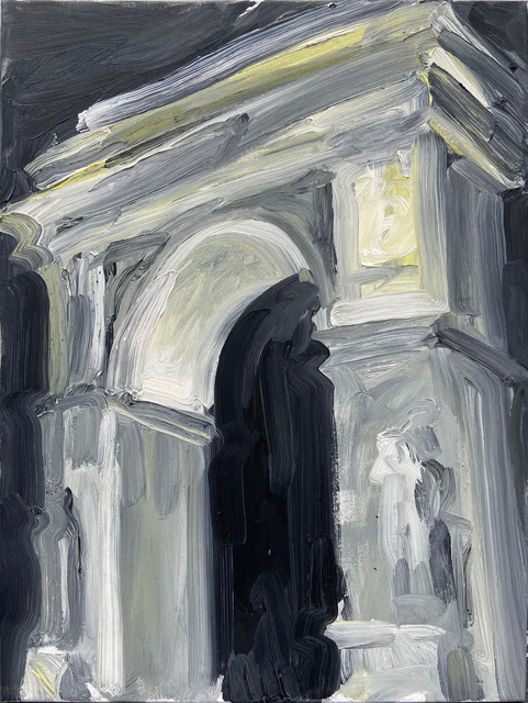 Molly Must, 'Arch at Night', 2021, Painting, Oil on canvas, New York Studio School