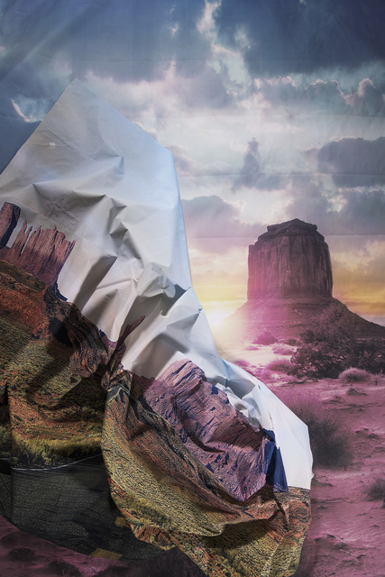 , 'Desert Road in Desert Sunset ,' 2017, Erin Cluley Gallery