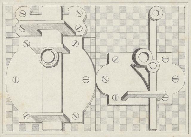 , 'Cerraduras (Padlocks) (a),' 1970, Barbara Thumm