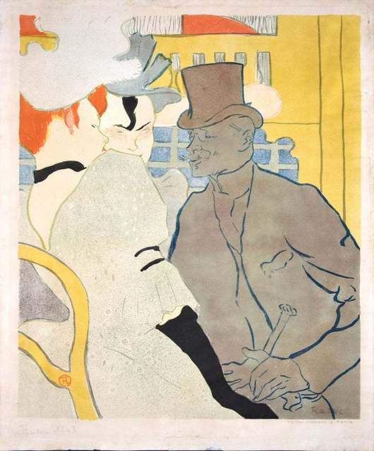 Henri de Toulouse-Lautrec, ' Englishman at the Moulin Rouge', 1892, Wallector