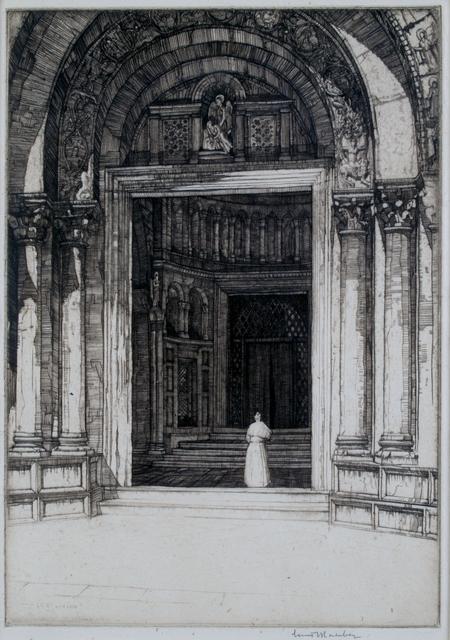 Louis Conrad Rosenberg, 'Doorway San Marco, Venice', ca. 1920, Private Collection, NY