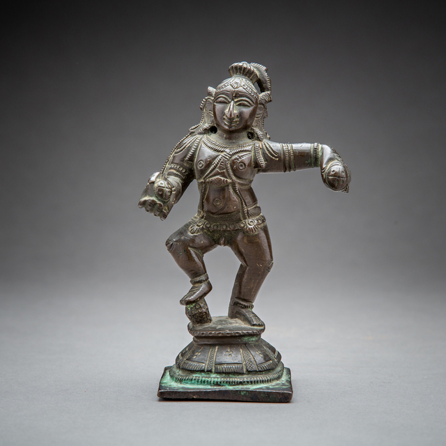 Unknown Asian, 'Bronze Figure of a Dancing Krishna', 1700 AD to 1800 AD, Barakat Gallery