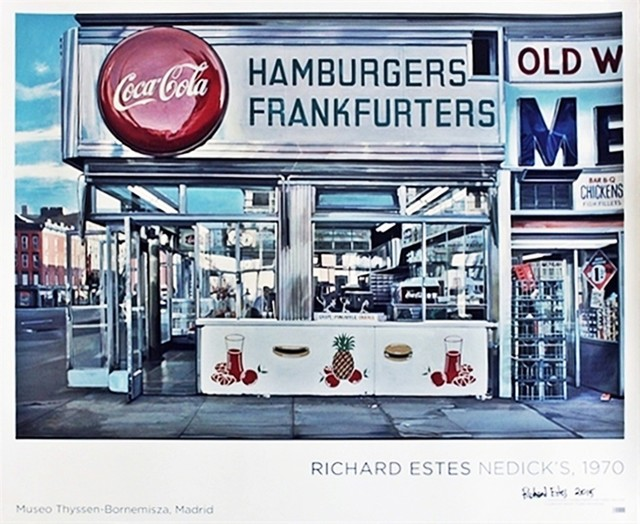 Richard Estes, 'Museo Thyssen-Bornemisza Poster (Hand Signed at the Museum of Design)', 2015, Alpha 137 Gallery Gallery Auction