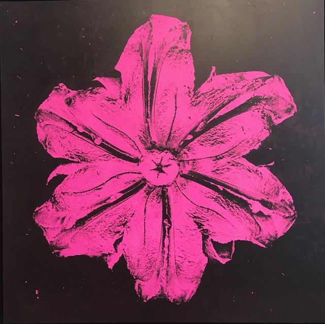 , 'Power Flower N-3 (Pink on black),' 2016, Octavia Art Gallery