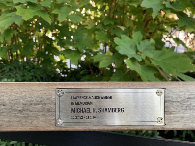 , 'Lawrence Weiner's Park Bench,' 2019, Galerie Arnaud Lefebvre