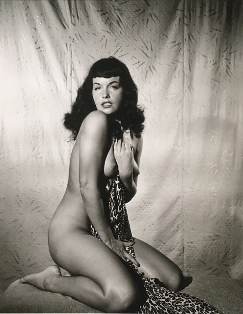Bunny Yeager, 'Bettie Page Clutching Robe', 1954, The Art Design Project