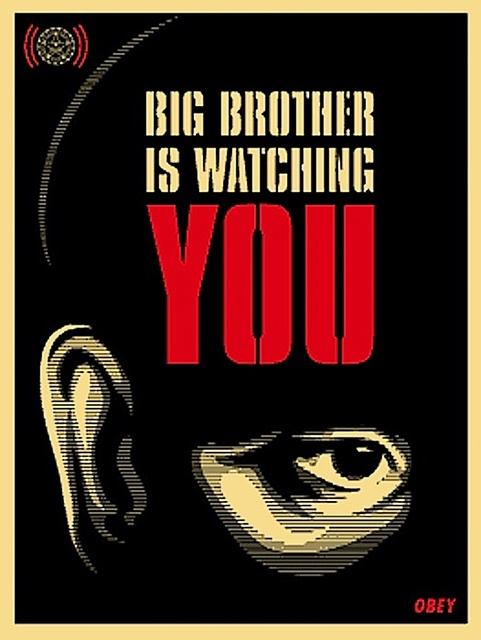 Shepard Fairey, 'Big Brother Is Watching You', 2006, Gregg Shienbaum Fine Art