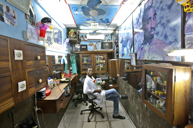 , 'Barbers, Abidjan #7,' 2012, Tiwani Contemporary