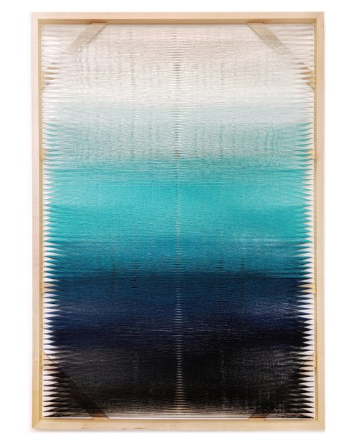 , 'Woven Screen (Turquoise Gradient),' 2018, Uprise Art