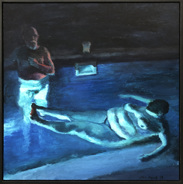 , 'Moonstruck jacuzzi couple ,' 2019, 99 Loop Gallery
