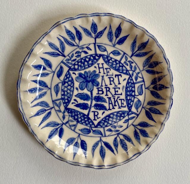 Elyse Pignolet, 'HeartBreaker', 2021, Sculpture, Ceramic plate with glazes, Koplin Del Rio