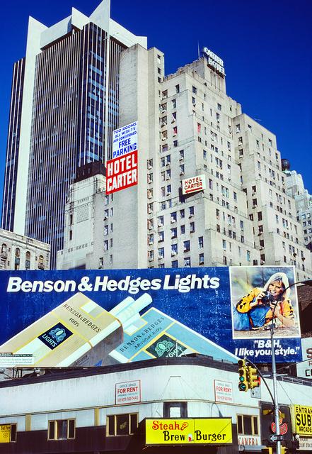 Mitchell Funk, '42nd Street Hotel Carter with Benson & Hedges Lights', 1979, Robert Funk Fine Art