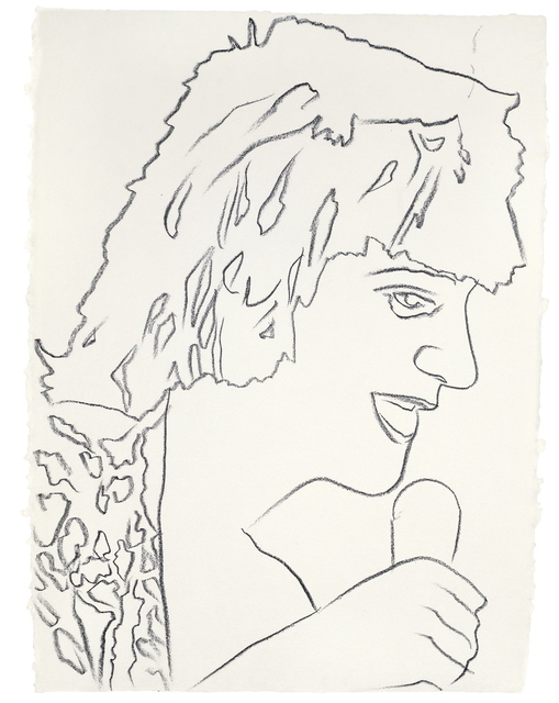 Andy Warhol, 'Rod Stewart', ca. 1978, Drawing, Collage or other Work on Paper, Graphite on HMP paper, Evelyn Aimis Fine Art