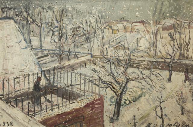 , 'Jardin dans la neige,' 1938, Musée d'Ixelles